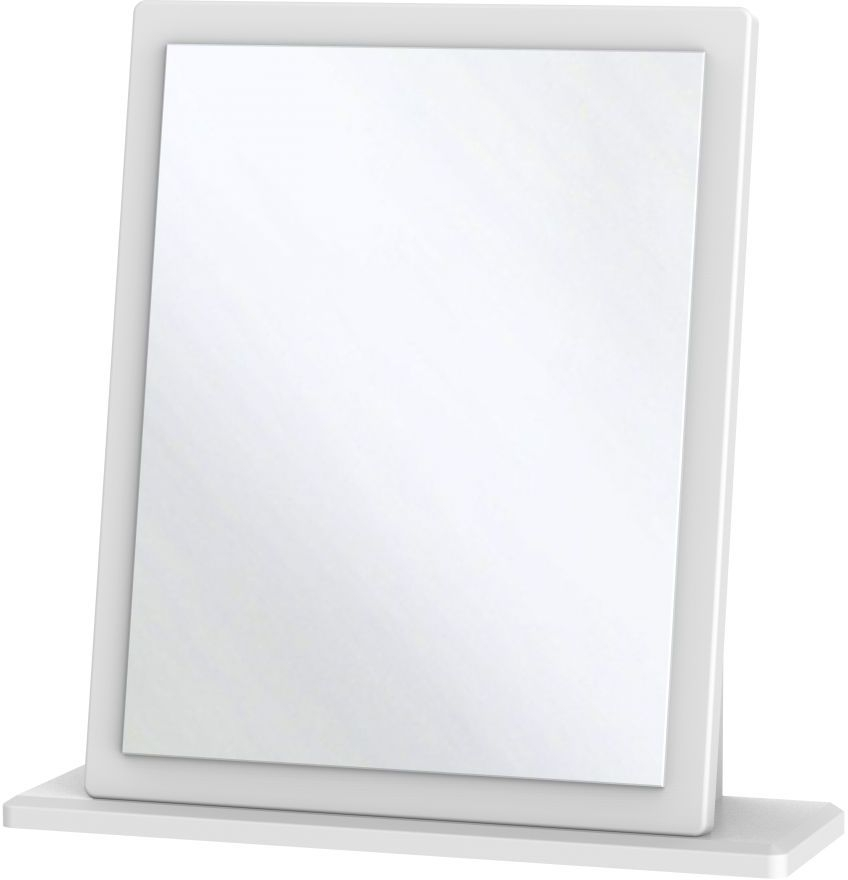 Clearance - Knightsbridge White Small Mirror - New - A-143