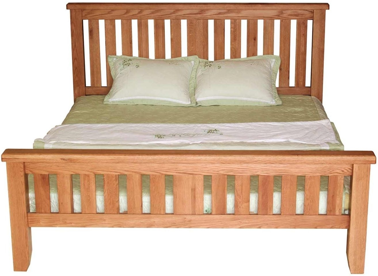 Clearance - Hampshire Oak 4ft 6in Double Bed - New - E-225