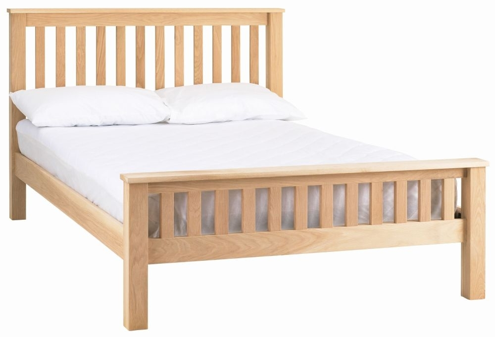 Clearance - Corndell Nimbus Satin Oak Strata 3ft Single Bed - New - FS1144