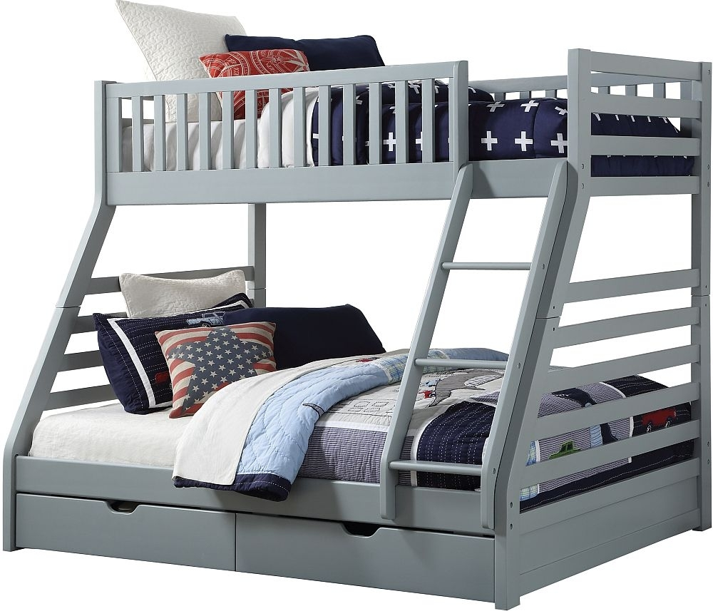 Clearance - Sweet Dreams States Grey Bunk Bed - New - FS1076