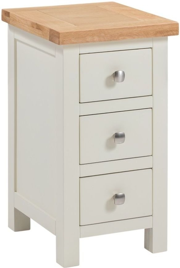 Clearance - Dorset Ivory Painted Compact Bedside Cabinet - New - FSS8910