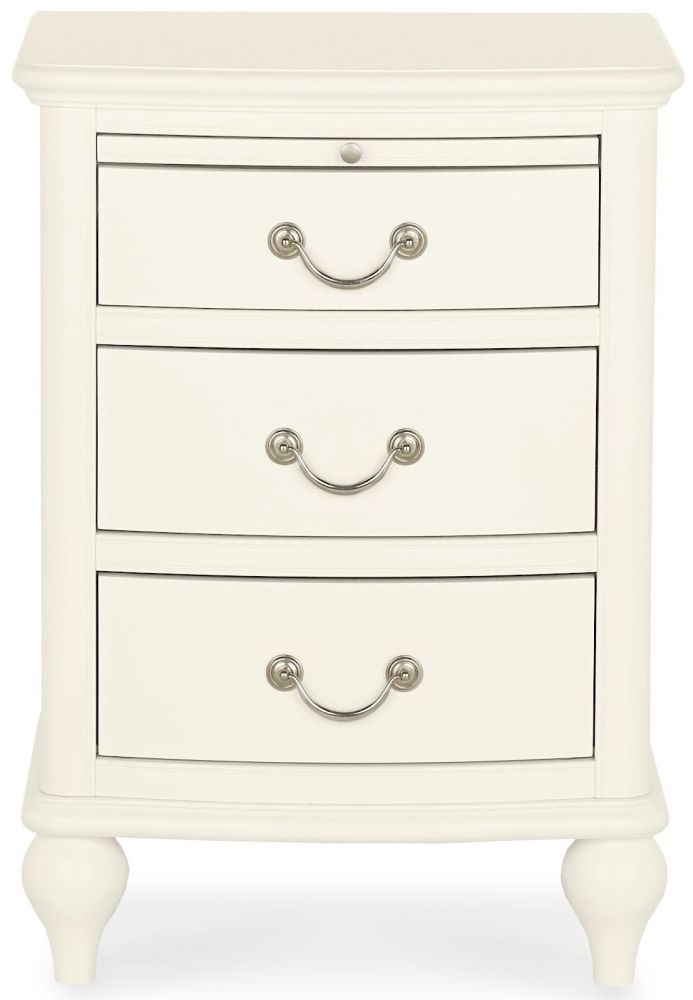 Clearance Bentley Designs Bordeaux Ivory Bedside Cabinet - 3 Drawer - 3058