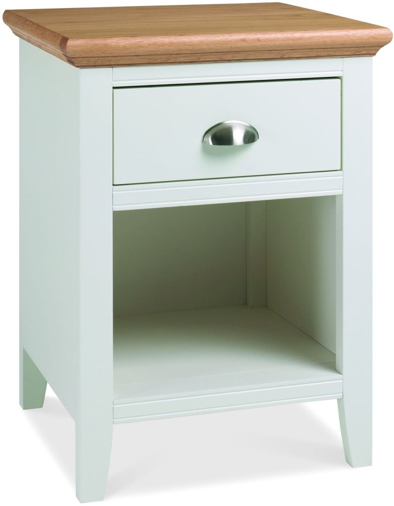 Clearance Bentley Designs Hampstead Two Tone 1 Drawer Bedside Cabinet - 2237