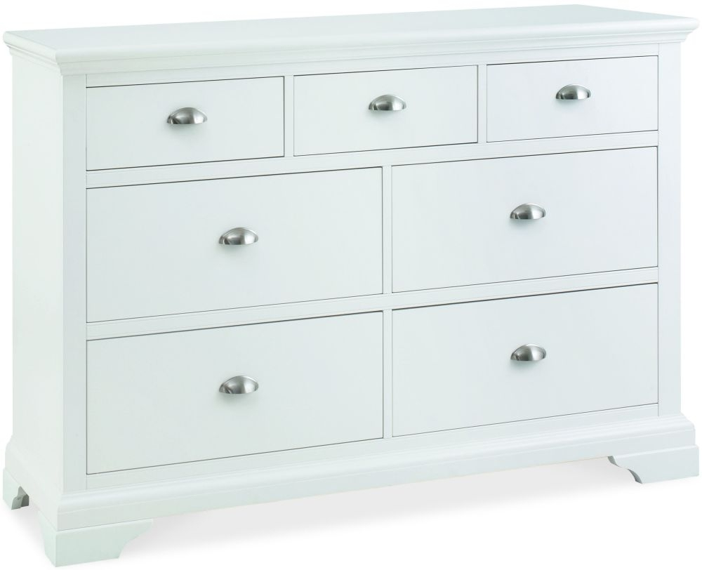 Clearance Bentley Designs Hampstead White Chest of Drawer - 3+4 Drawer - 3057
