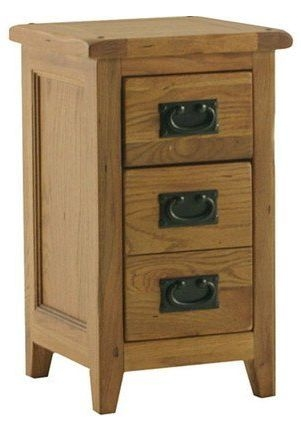 Clearance Bordeaux 3 Drawer Bedside Table - A75