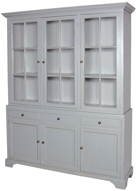 Clearance Fayence Grey Painted 5ft Dresser - W50