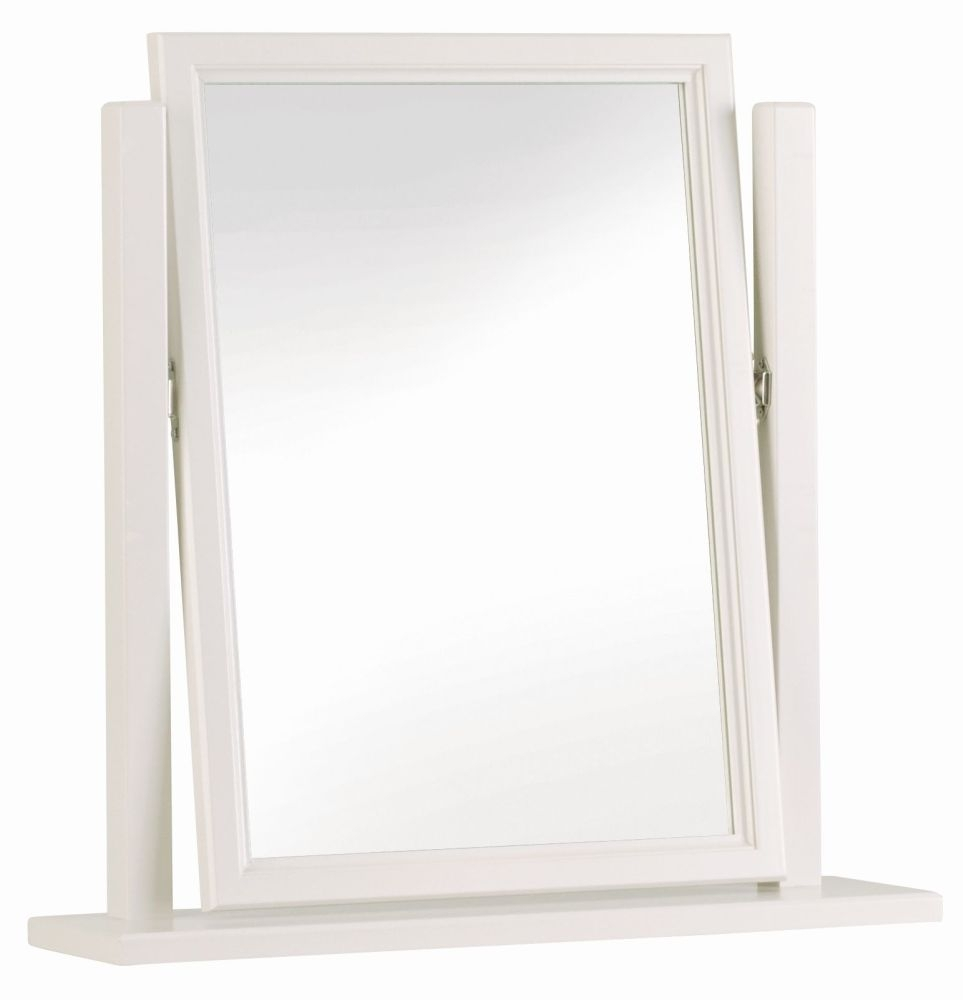 Clearance Half Price - Corndell Annecy Cotton Vanity Rectangular Mirror - New - 2045