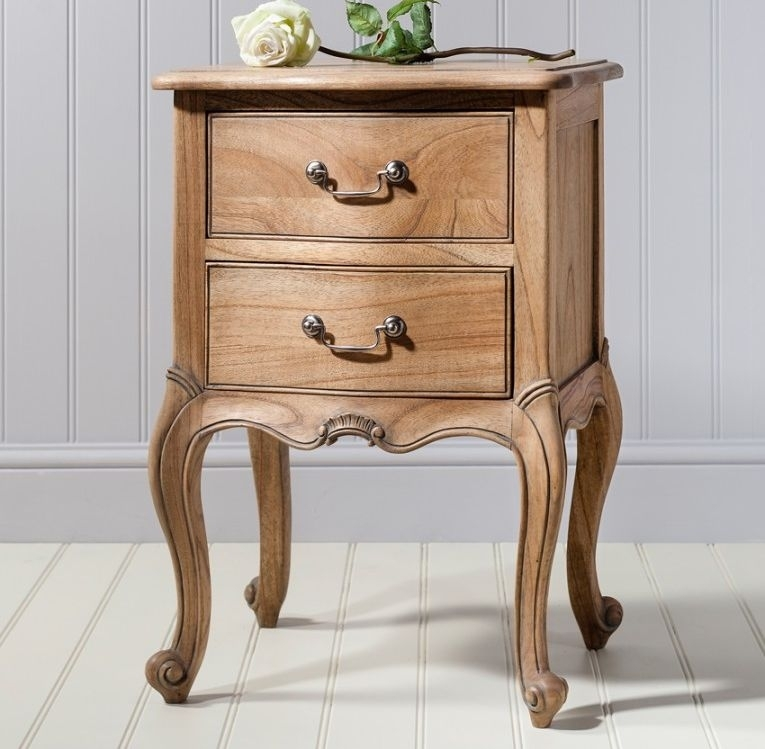 Clearance - Frank Hudson Chic Bedside Cabinet - Weathered - New - D177