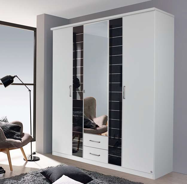 Clearance Half Price - Rauch Terano 6 Door 2 Drawer Combi Wardrobe - New - 87336