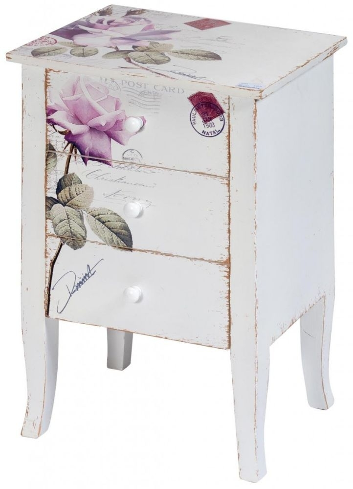Product photograph showing Clearance Half Price - Rose Chest Of Drawer - 3 Drawer - New - 2032