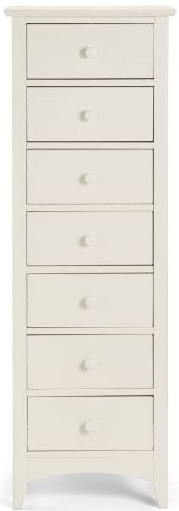 Clearance Julian Bowen Cameo Off White Chest of Drawer - Narrow 7 Drawer - 2192