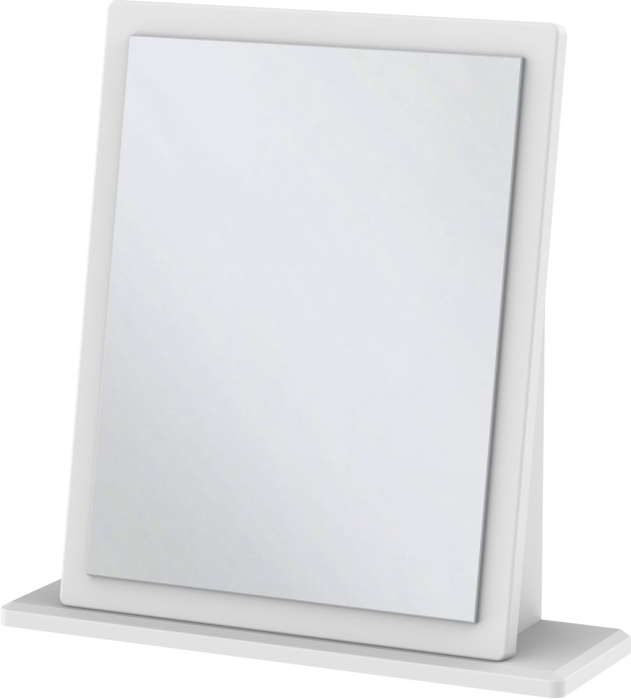 Clearance Half Price - Kingston White Small Mirror - New - G355