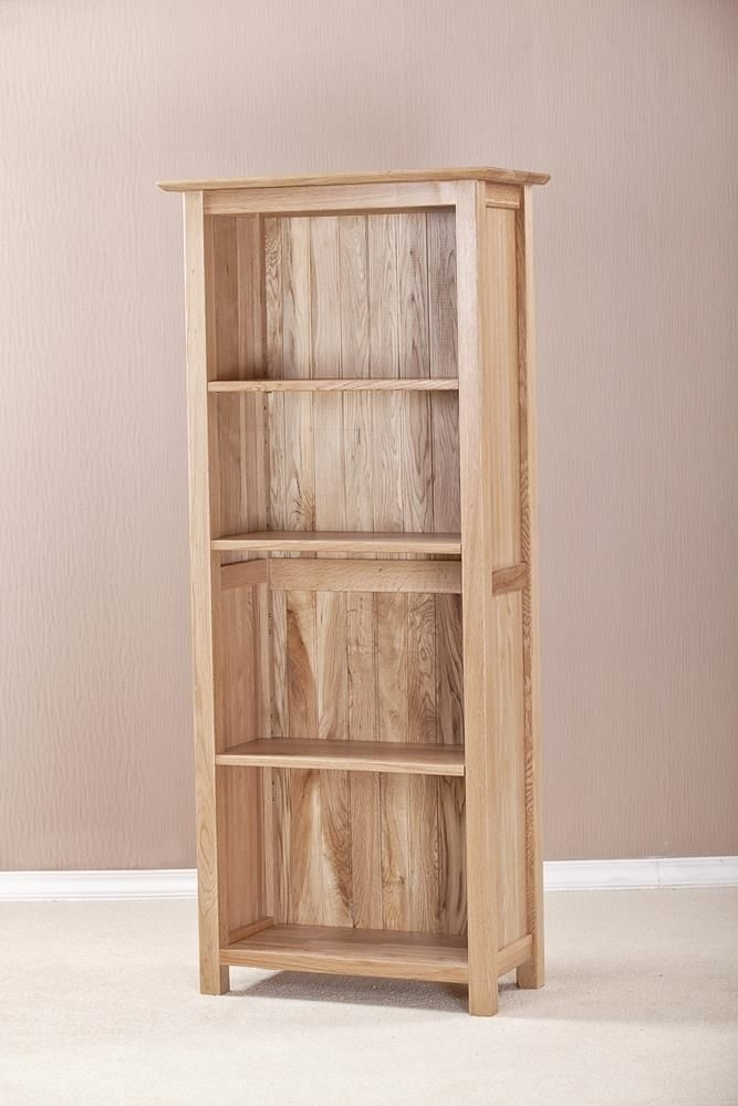 Clearance Milano Solid Oak Bookcase - 5ft Narrow - 2225