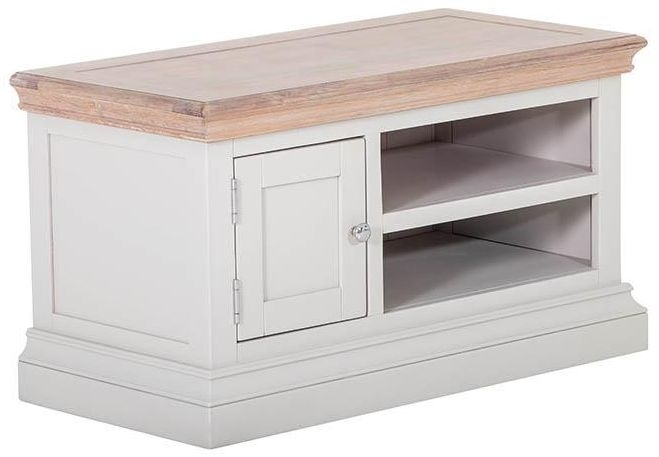 Clearance Rosa Painted TV Unit - 1 Door 1 Shelf - 2223