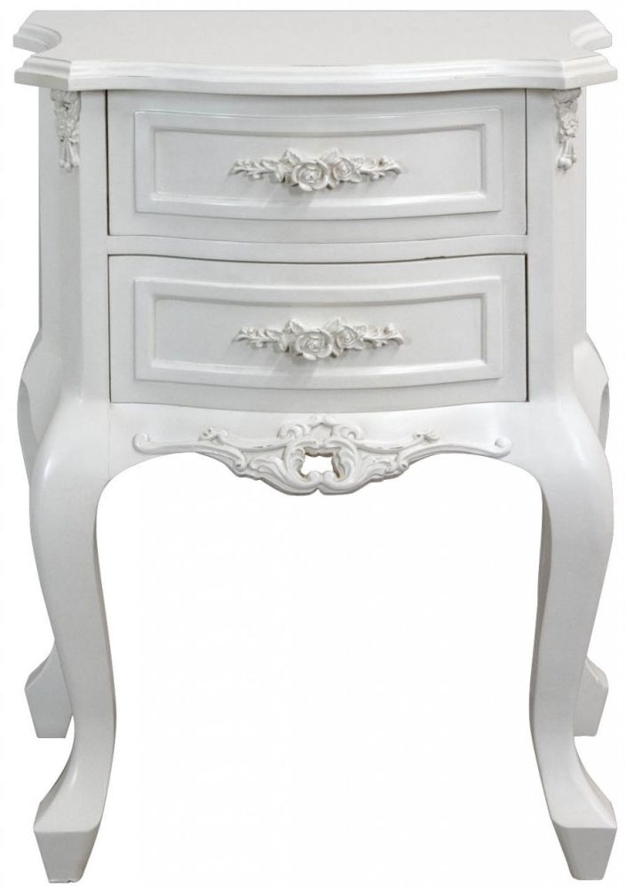 Clearance Rose 2 Drawer Bedside Table - 2033