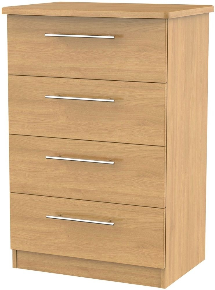 Clearance Sherwood Oak Chest of Drawer - 4 Drawer Midi - 1022