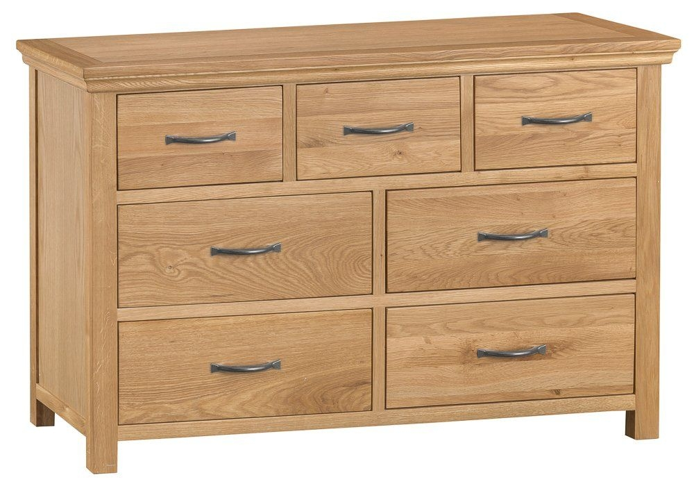 Clearance Stirling Oak Chest of Drawer - 3 Over 4 Drawer - 2134