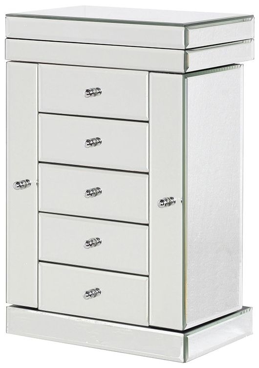 Clearance Venetian Mirrored Jewellery Chest of Drawer - 2132