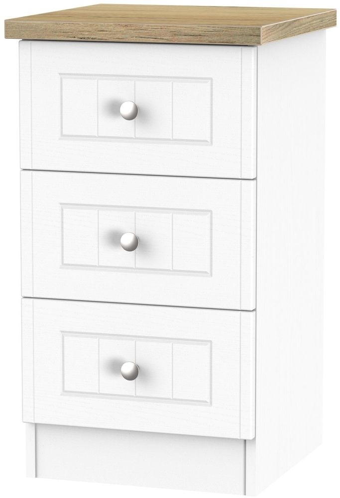 Clearance Vienna Porcelain Bedside - 3 Drawer Locker - 2246