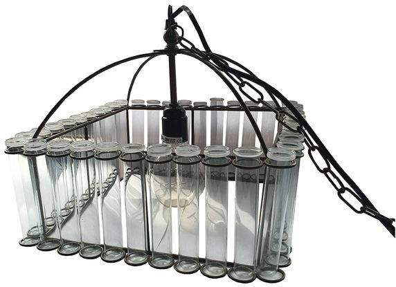 Clearance Half Price - Culinary Concepts Pasteur Square Test Tube Brass Chandelier (Pair) - New - W51