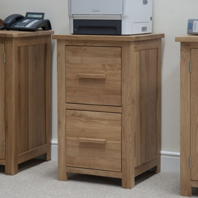 Clearance Half Price - Homestyle GB Opus Oak Filing Cabinet - New - FS00109