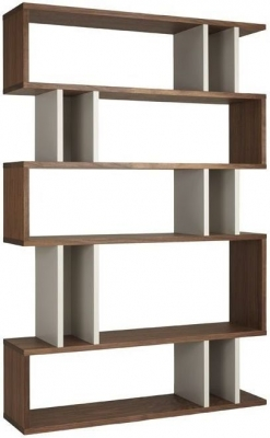 Clearance Half Price - Content by Terence Conran Counter Balance Tall Shelving Unit - Walnut and Pebble - New - W568