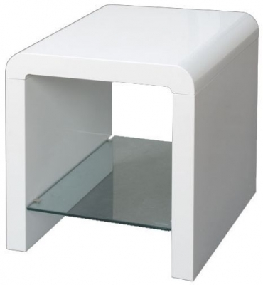 Clearance Half Price - Clarus White Lamp Table - New - 1085