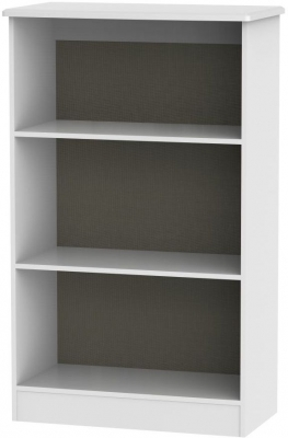 Clearance - Knightsbridge White Bookcase - New - A-182
