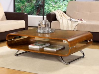 Clearance - Jual Curve Walnut Coffee Table JF302 - New - FS744