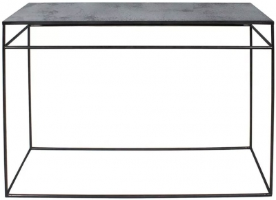 Clearance - Notre Monde Charcoal Heavy Aged Mirror Rectangular Console Table - New - FS555