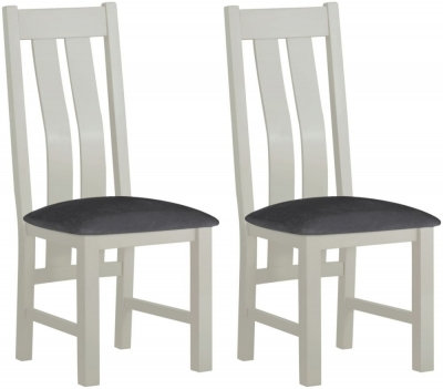Clearance - Portland Stone Painted Dining Chair (Pair) - New - FS445