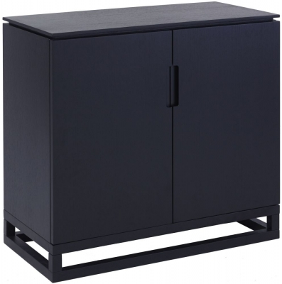 Clearance - Islington Black 2 Door Low Sideboard - New - FS619