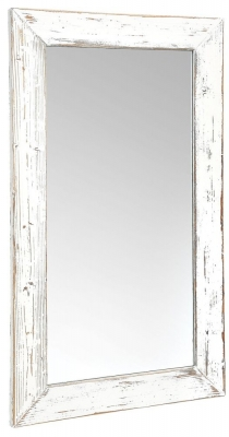 Clearance - Rowico Purbeck Distressed White Wall Mirror - 70cm x 140cm - New - E-254