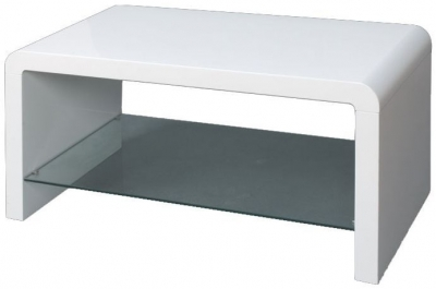 Clearance - Clarus White Coffee Table - New - E-76
