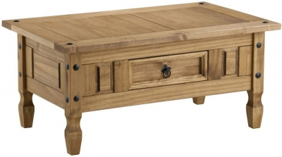Birlea Corona Waxed Pine Coffee Table - 1 Drawer - CL-4018