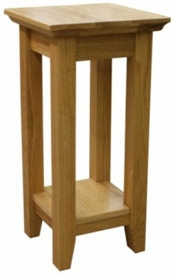 Hereford Rustic Oak Tall Lamp Table - CL-C48