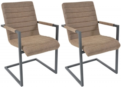 Liddle Industrial Reclaimed Wood Brutal Dining Chair (Pair) - CL-2140