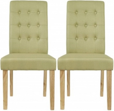 Roma Green Fabric Dining Chair (Pair) - CL-C11