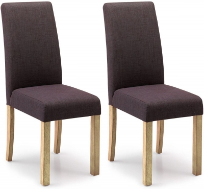Clearance Willis and Gambier Originals Harlequin Charcoal Dining Chair with Light Leg (Pair) - C45