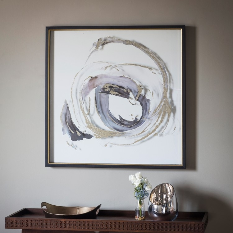 Clearance Half Price - Gallery Direct Whirlpool Framed Art - New - D162