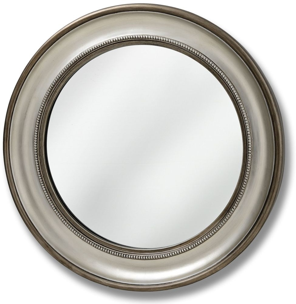 Clearance Half Price - Hill Interiors Detailed Round Wall Mirror - 90cm x 90cm - New - D017
