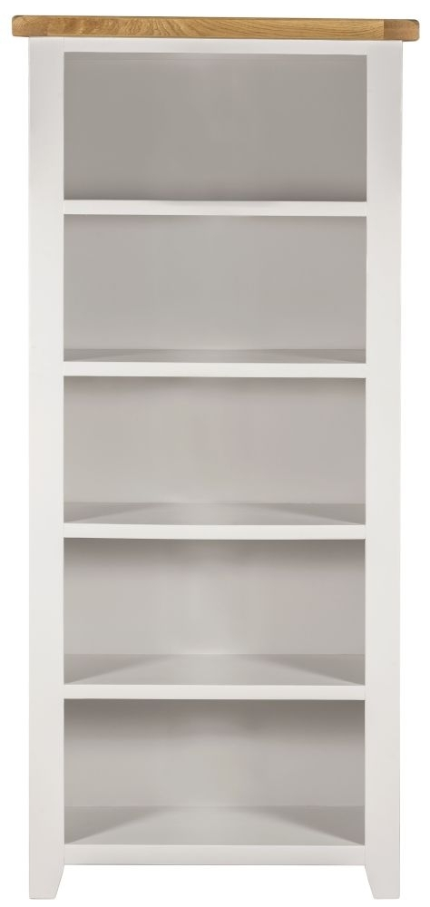 Clearance Half Price - Lundy White Large Bookcase - New - D021