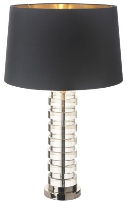 Clearance Half Price - RV Astley Aprio Table Lamp Base - Crystal and Nickle - New - D019