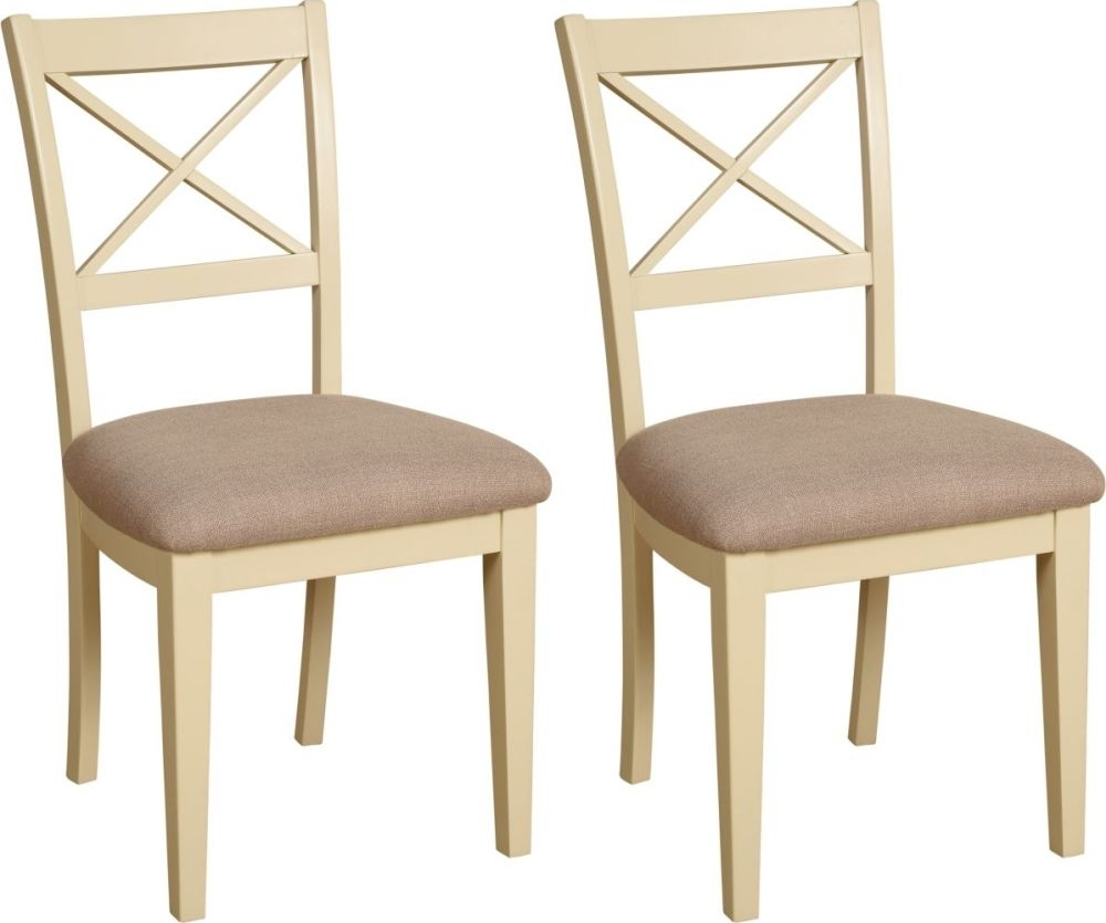 Clearance Half Price - Cambridge Painted Cross Back Dining Chair (Pair) - New - FS0052