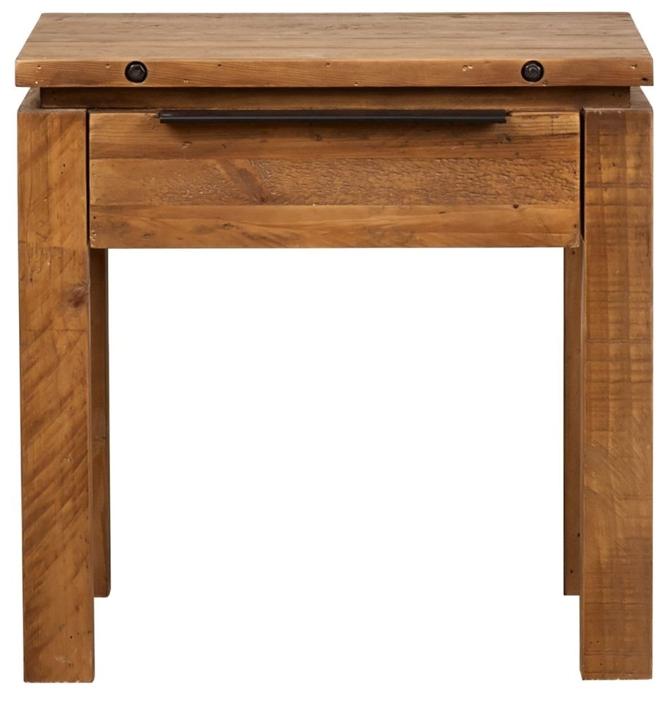 Clearance - Mark Webster New York Reclaimed Pine Lamp Table - New - FS0017