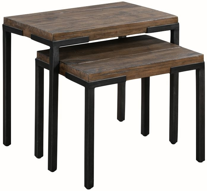 Clearance Half Price - Seville Dark Pine Nest of Tables - New - FS0008