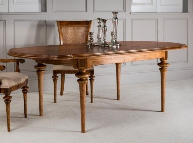 Clearance Half Price - Frank Hudson Spire Oval Extending Dining Table - Walnut - New - FS0072