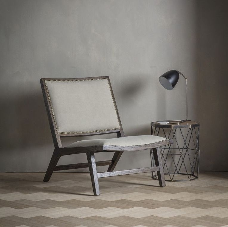 Clearance Half Price - Gallery Direct Carnaby Fabric Chair - Stone Washed - New - 3004