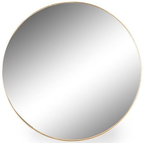 Clearance Half Price - Gold Framed Arden Round Extra Large Wall Mirror - 90.7cm x 90.7cm - New - 3039