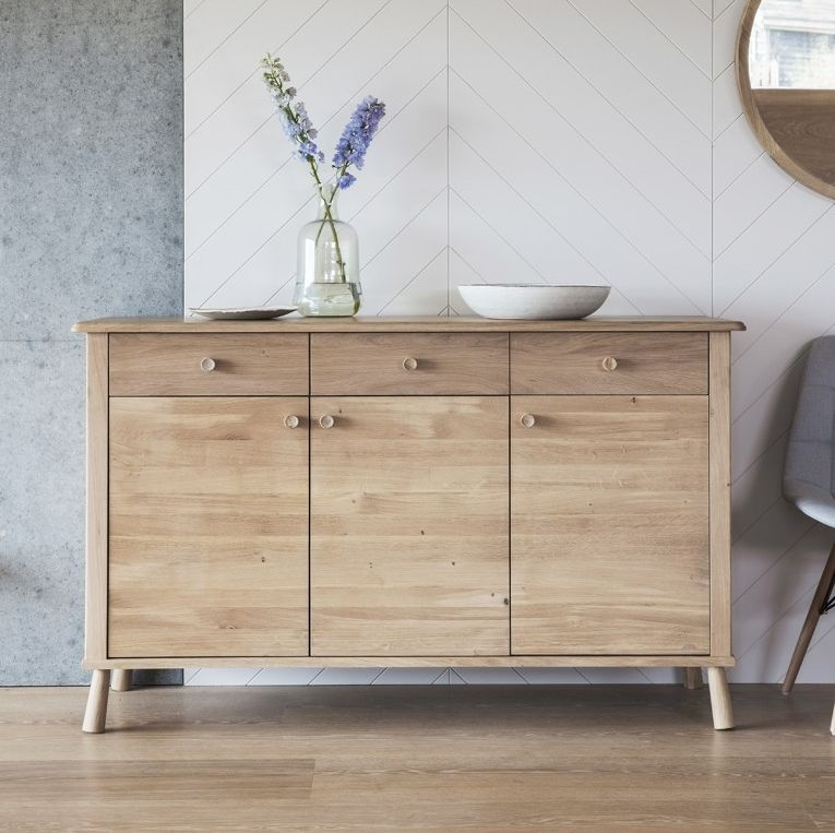Clearance Half Price - Hudson Living Wycombe Oak Sideboard - New - 572